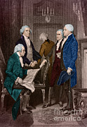Thomas Jefferson Posters - First Presidential Administration Poster by Photo Researchers