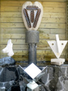 Water Sculpture Originals - First Second Fourth Seventh Chakras by Frank Pasquill