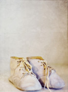 Rebecca Robinson Metal Prints - First Shoes - Color Metal Print by Rebecca Robinson