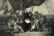 Us History Posters - First Sight Of The New World, 1492 Poster by Photo Researchers