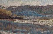 Winter Scene Pastels - First Snow by Judy Walton