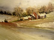 Winter Roads Originals - First Snowfall by Sandra Strohschein