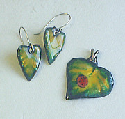 Hand Made Jewelry - First spring leaves by Asya Ostrovsky