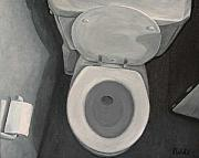 Toilet Painting Originals - First Thing by Frank Wuts