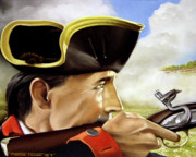 Revolutionary War Painting Originals - First to Fight by Marc Stewart