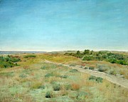 Prairie Sky Paintings - First Touch of Autumn by William Merritt