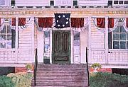 Confederacy Drawings Prints - First White House of the Confederacy Print by Beth Parrish