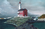 San Juan Prints Mixed Media - Fisgard Light by James Lyman