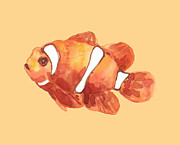 Fish Print Prints - Fish - clown fish - nemo Print by Alison Fennell
