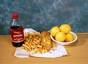 Vinegar Photo Prints - Fish And Chips Print by Andrew Lambert Photography