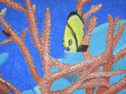 Fish Underwater Painting Originals - Fish and Coral by Dominic White