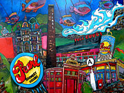 San Antonio Paintings - F.I.S.H. at Pearl Brewery by Patti Schermerhorn