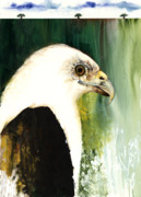African-american Mixed Media - Fish Eagle by Anthony Burks