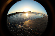 Allie Smith Prints - Fish Eye Sunset Print by Allie Smith