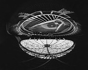 1960s Photo Framed Prints - Fish Eye View Of The Astrodome Aka The Framed Print by Everett