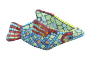 Decorative Sculpture Framed Prints - Fish Framed Print by Katia Weyher