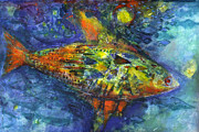 Tropical Fish Mixed Media Posters - Fish Poster by Nato  Gomes