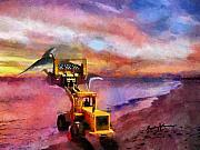 Bulldozer Prints - Fish On Print by Anthony Caruso
