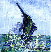 Sailfish Mixed Media Framed Prints - Fish On Framed Print by Authentic Occurrence