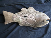 Aged Sculptures - Fish by R Lufi Satoto