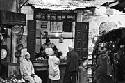 Morocco Prints - Fish Shop Print by Marion Galt