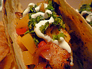 Fish Taco With Mango Salsa Print by Renee Trenholm
