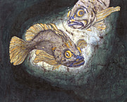 Greeting  Cards. Arizona Paintings - Fish Tales by Shari Carlson