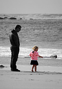Surf Photos - Fish With Me Daddy by Terri  Waters