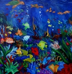 Fish Underwater Painting Originals - Fish you dont feed by Nora Niles