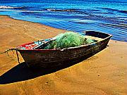 Fisher Boat By Michael Fitzpatrick Print by Olden Mexico