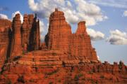 Erode Framed Prints - Fisher Towers Framed Print by Utah Images
