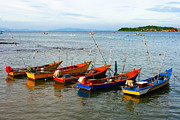 Phalakon Jaisangat - Fisherman boats in the...