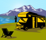 Automobile Artwork. Prints - Fisherman caravan Print by Aloysius Patrimonio