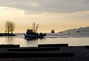 Fishing Creek Metal Prints - FISHERMAN HOME returning to port from the inside passage vancouver BC canada Metal Print by Andy Smy