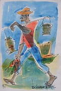 Bob Marley Painting Originals - Fisherman by Ken Spencer