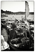 Docked Boat Framed Prints - Fisherman Framed Print by Madeline Ellis