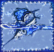 Swordfish Mixed Media Prints - Fishermans Dream Print by Tisha McGee