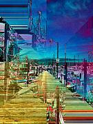 Terminal Digital Art Prints - Fishermans Terminal Pier 2 Print by Tim Allen