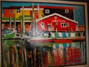Fishermans Wharf Print by Les Smith