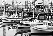 Fishing Pier Prints - Fishermans Wharf Print by Mick Burkey