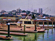 Yachts Prints - Fishermans Wharf San Francisco 3  Print by Douglas Barnard