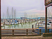 Yachts Prints - Fishermans Wharf San Francisco HDR Print by Douglas Barnard