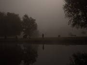 River Mist Photos - Fishermen by Dawn OConnor