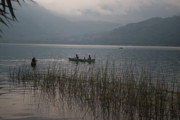 Fishermen Photos - Fishermen on Lake Atitlan by Douglas Barnett