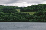 River Scenes Posters - Fishermen On Otsego Lake Poster by Raymond Gehman