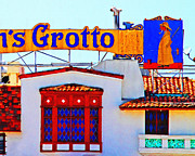 Tourist Attraction Digital Art Metal Prints - Fishermens Grotto Restaurant At Fishermans Wharf . San Francisco California . 7D14350 Metal Print by Wingsdomain Art and Photography