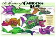 Tim Nyberg Mixed Media - Fishes of Cartoona Bay Poster by Tim Nyberg