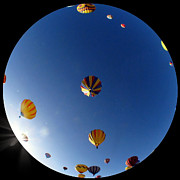 Myeress Framed Prints - Fisheye Balloons Framed Print by Joe Myeress