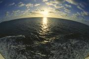 Virgin Gorda Island Art - Fisheye Lens View Of Sunlit Ocean by Todd Gipstein