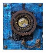 Gears Mixed Media Posters - Fisheye Noah Poster by Scott Rolfe